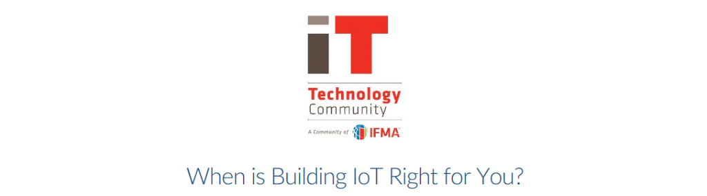 Building IoT webinar hosted by IFMA