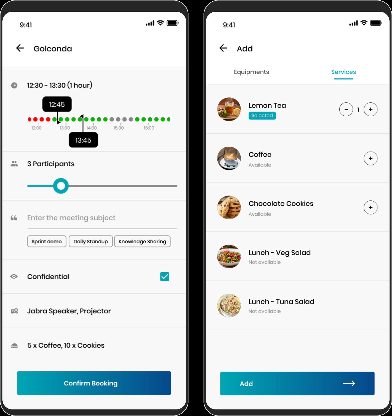 Réserver une réunion Capture d'écran mobile
