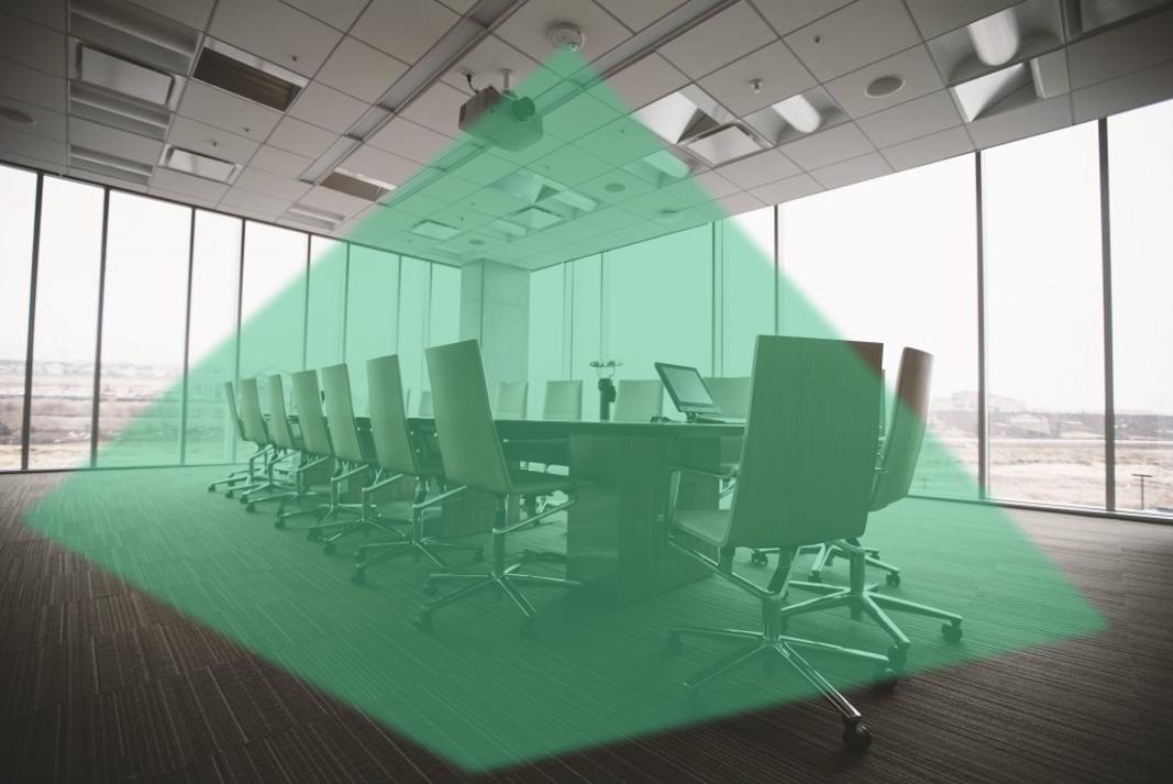 Sensordaten sind in das Konferenzraum Buchungssystem integriert