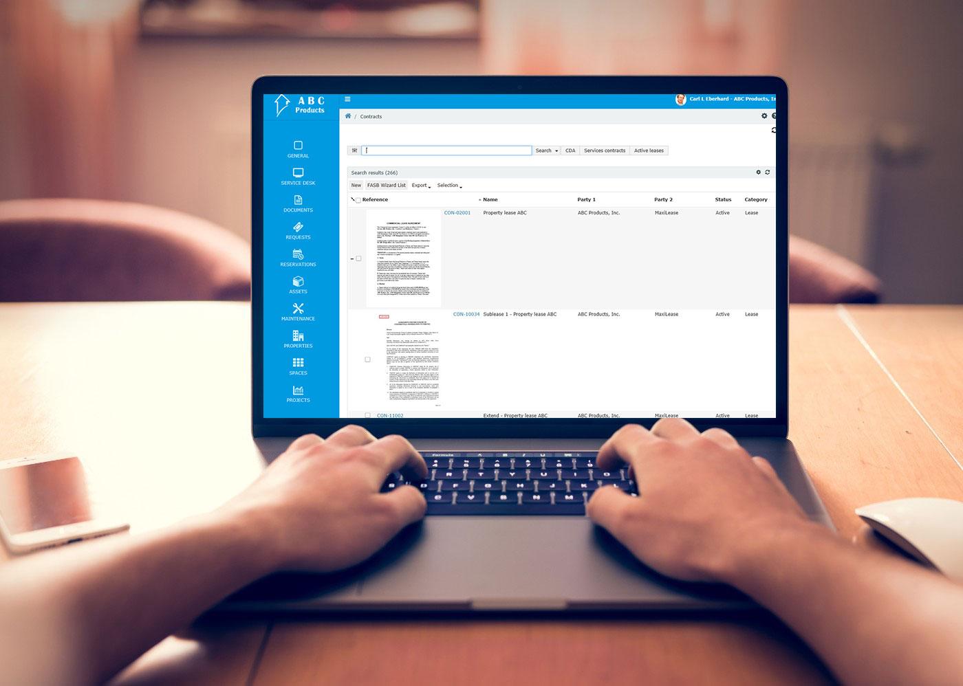 Software für gewerbliche Immobilien: Immobilienportfolio