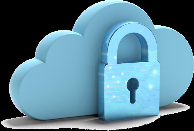 Icône de sécurité du cloud