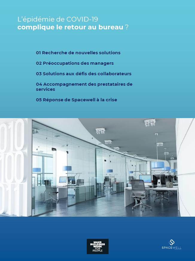 Couverture du guide « L'épidémie de COVID-19 complique le retour au bureau ? »