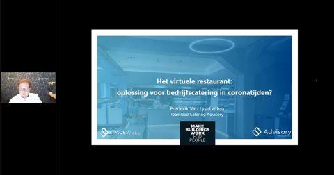 Screenshot of the webinar - Het virtuele restaurant: oplossing voor bedrijfscatering in coronatijden?