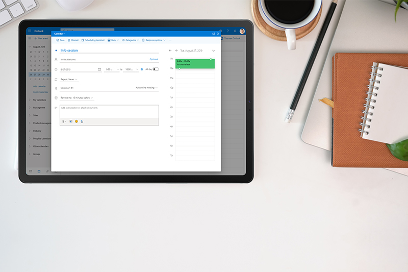 Screenshot Outlook add-in