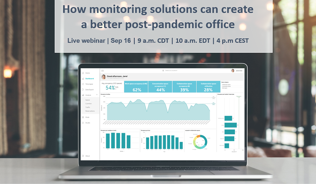 Live webinar: How monitoring solutions can create a better post-pandemic office