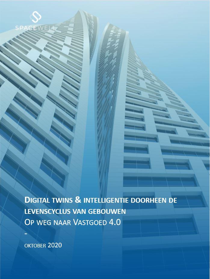 Omslag whitepaper Digital twins & intelligentie doorheen de levenscyclus van gebouwen