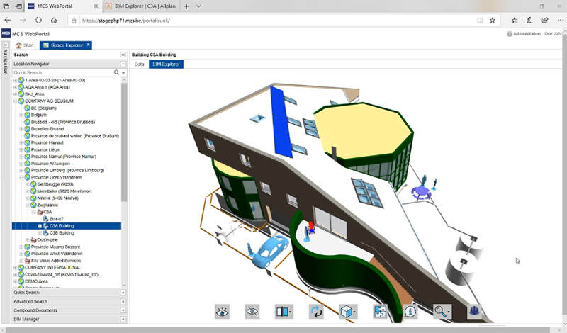 C3A building model in Spacewell IWMS screenshot