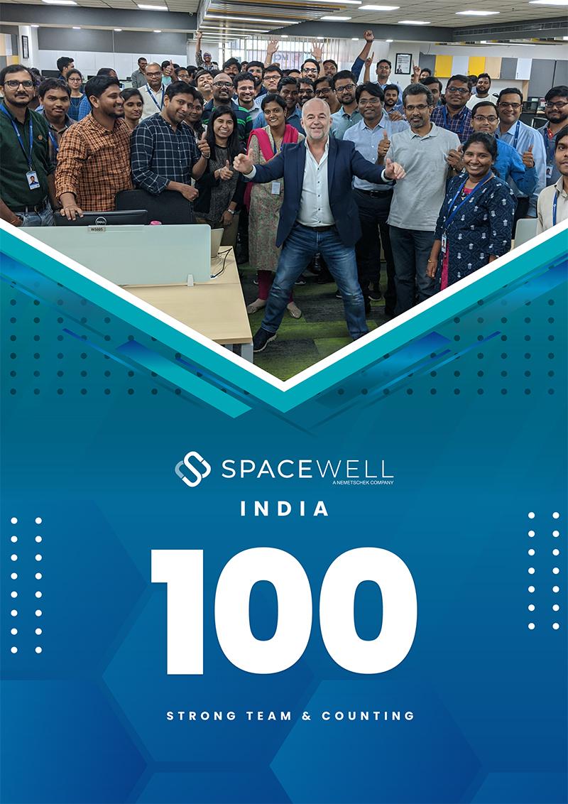 Affiche Spacewell Inde 100e employé