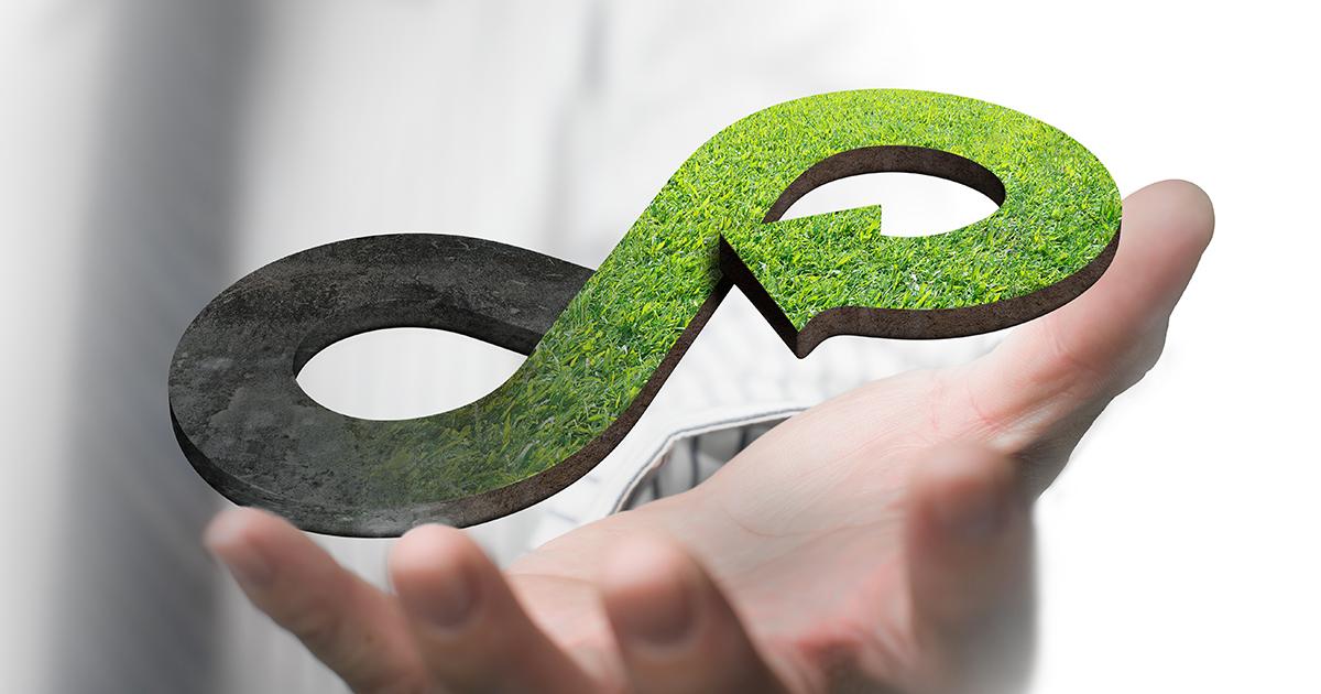 Concept van de groene circulaire economie