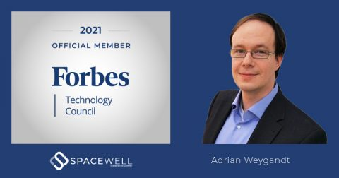 Spacewell's Adrian Weygandt official member Forbes Technology Council