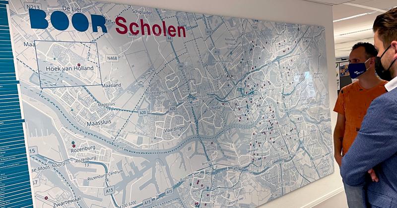 Stichting Boor - scholen kaart